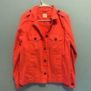 Coral Linen Jacket